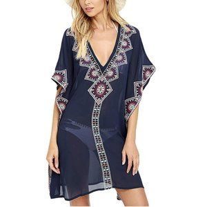 Loose Beach Tunic Cover-Up Dress